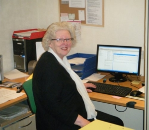 Barbara Fuller, the Society's General Secretary, who is also the Resource Centre Manager.